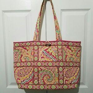 Vera Bradley Large Tote Shopper Shoulder Bag Pink